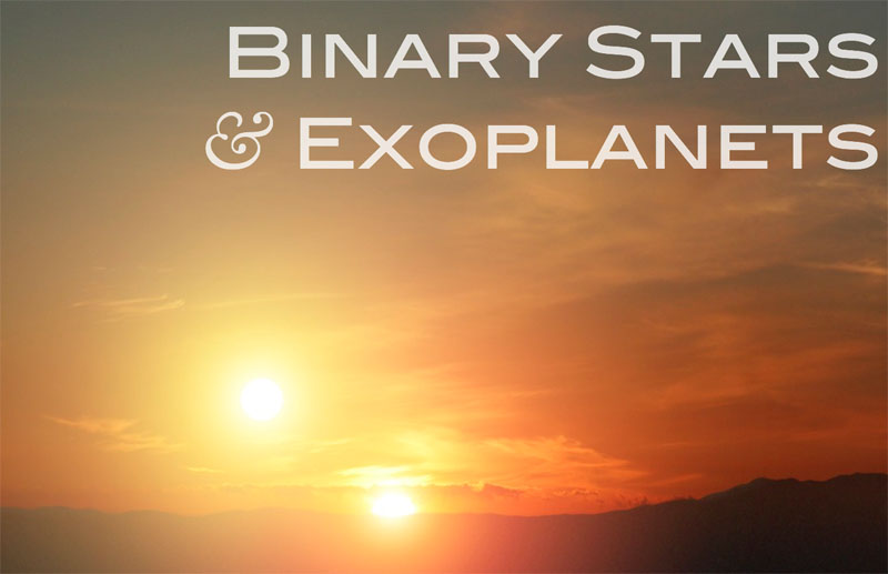 Title slide from my talk on Binary Stars and Exoplanets.