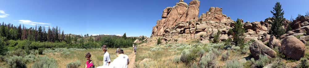 A view of our hike in Vedauwoo National Park.