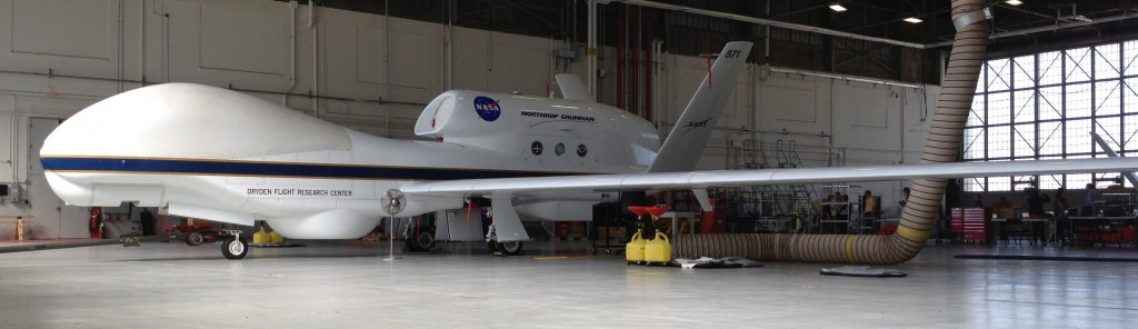 One of NASA's two Global Hawk UAVs