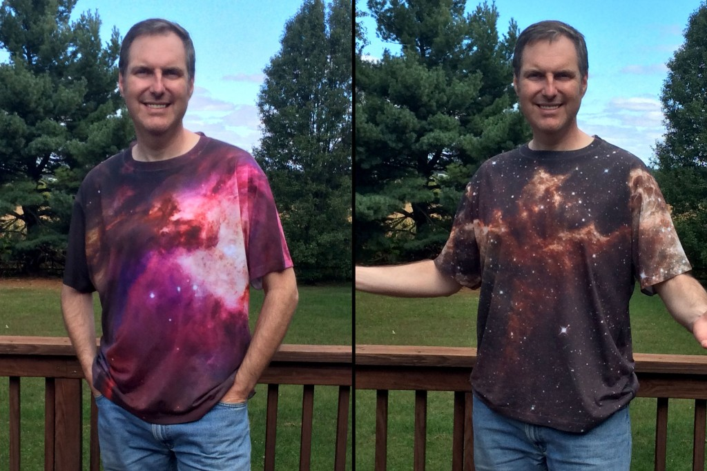 We are all made of star stuff, and so are our shirts.