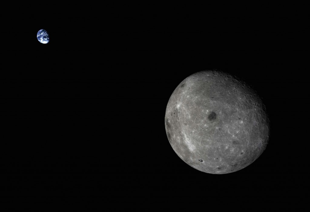 The Chang'e 5 test vehicle captured this beautiful view of Earth over the far side of the Moon on October 28, 2014. Credit: CNSA