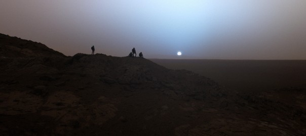 Blue sunset on Mars, from Erik Wernquist