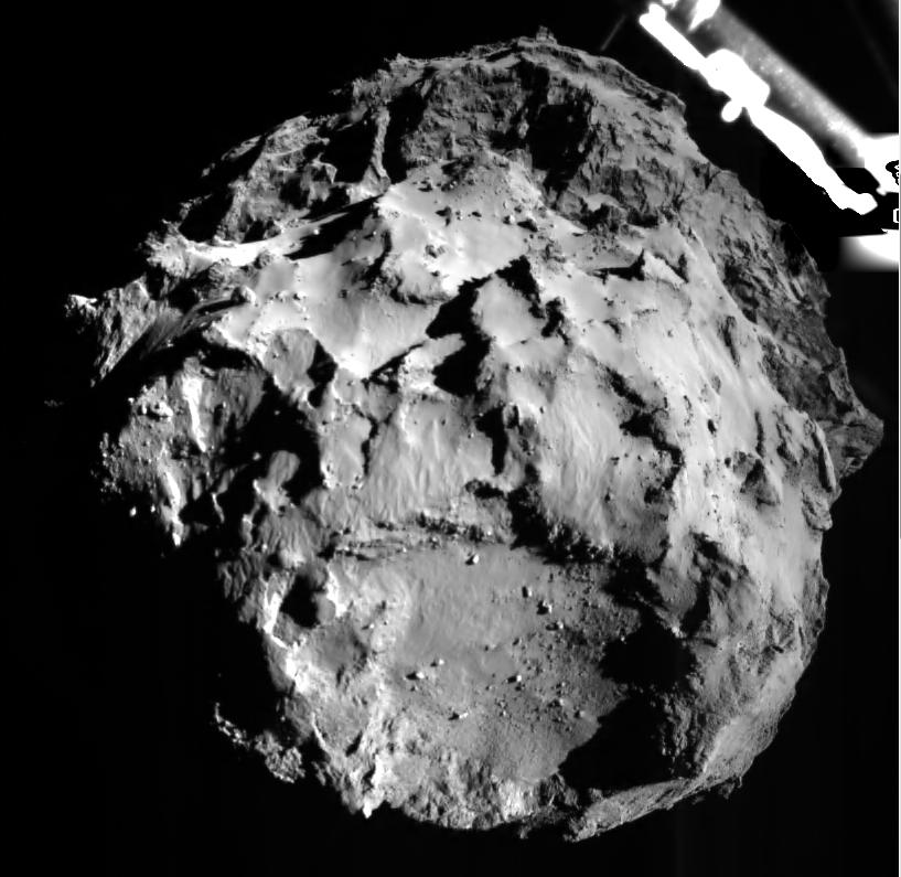 Phiae's landing site from 3km away! Photo byESA Rosetta / Philae / Rolis