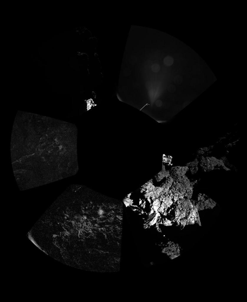 The first panoramic image of Philae's landing site. Credit: ESA Rosetta / Philae / CIVA